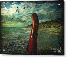 Between Sea And Shore Acrylic Print by Lianne Schneider