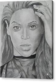 Beyonce Acrylic Print by Aaron Balderas