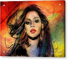 Beyonce Acrylic Print by Mark Ashkenazi