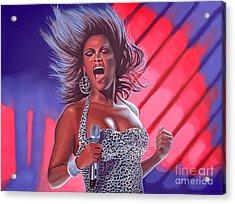 Beyonce Acrylic Print by Paul Meijering