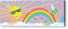 Beyond The Rainbow Acrylic Print by J L Meadows