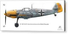 Bf 109e W.nr.5819 Geschwaderkommodore Jg 26 Adolf Galland Acrylic Print by Vladimir Kamsky