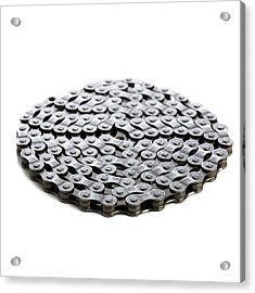 Bicycle Chain Acrylic Print by Science Photo Library