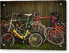 Bicycle Jam Acrylic Print by Odd Jeppesen