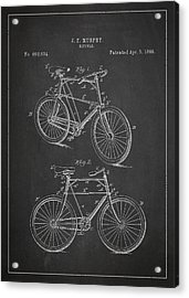 Bicycle Patent Acrylic Print by Aged Pixel