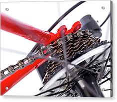 Bicycle Rear Gears Acrylic Print by Science Photo Library