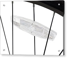Bicycle Wheel Reflector Acrylic Print by Science Photo Library