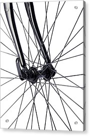 Bicycle Wheel Spokes Acrylic Print by Science Photo Library