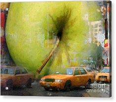 Big Apple Acrylic Print by Lutz Baar