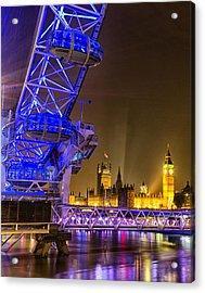 Big Ben And The London Eye Acrylic Print by Ian Hufton