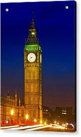 Big Ben By Night Acrylic Print by Melanie Viola