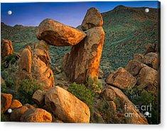 Big Bend Window Rock Acrylic Print by Inge Johnsson