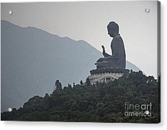 Big Buddha In Hong Kong Acrylic Print by Lars Ruecker