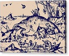 Big Fish Eat Little Fish Acrylic Print by