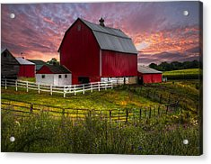 Big Red At Sunset Acrylic Print by Debra and Dave Vanderlaan