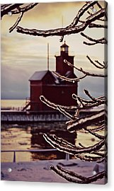 Big Red Ice Acrylic Print by Dawdy Imagery