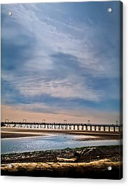 Big Skies Over The Pier Acrylic Print by Eva Kondzialkiewicz