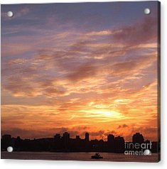 Big Sky Over Halifax Harbour Acrylic Print by John Malone