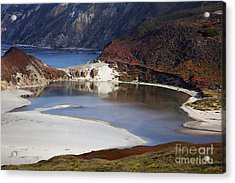 Big Sur Coastal Pond Acrylic Print by Jenna Szerlag