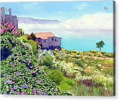 Big Sur Cottage Acrylic Print by Mary Helmreich