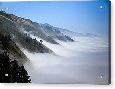 Big Sur Fog Acrylic Print by Mathew Lodge