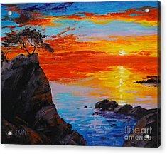 Big Sur Sunset Acrylic Print by Graham Gercken