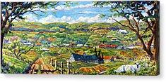 Big Valley By Prankearts Acrylic Print by Richard T Pranke