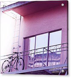 Bike On My Balcony Acrylic Print by Artist and Photographer Laura Wrede