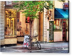 Bike - The Music Store Acrylic Print by Mike Savad