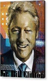 Bill Clinton Acrylic Print by Corporate Art Task Force