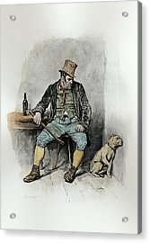 Bill Sykes And His Dog, From Charles Acrylic Print by Frederick Barnard
