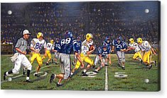Billy Cannon's Halloween Heisman Haul Acrylic Print by Mike Roberts