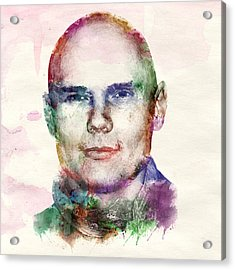 Billy Corgan Watercolor Acrylic Print by Marian Voicu