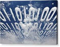 Electronic Information Data Transfer Acrylic Print by Johan Swanepoel