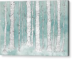 Birch Forest Acrylic Print by Randoms Print