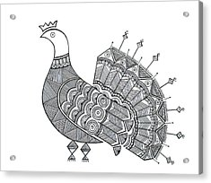 Bird Dove Acrylic Print by Neeti Goswami