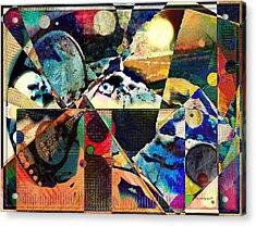 Birds And Music Acrylic Print by YoMamaBird Rhonda