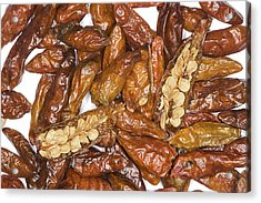 Bird's Eye Chilli Peppers Acrylic Print by Power And Syred