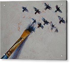 Birds Acrylic Print by Michael Creese