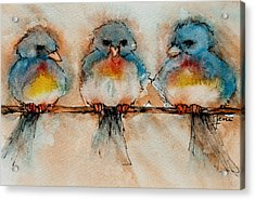 Birds Of A Feather Acrylic Print by Jani Freimann