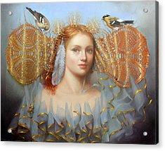 Birds Of A Feather Acrylic Print by Loretta Fasan