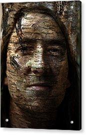 Birtch Green Man Acrylic Print by Christopher Gaston