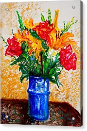 Birthday Flowers Acrylic Print by Pete Maier