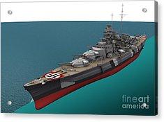 Bismarck, German World War II Battleship Acrylic Print by Jose Antonio Pe??as