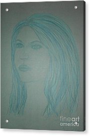 Biviana In Blue Acrylic Print by James Eye