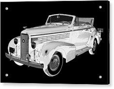 Black An White 1938 Cadillac Lasalle Pop Art Acrylic Print by Keith Webber Jr