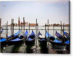 Black And Blue Acrylic Print by Stefano Carini