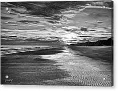 Black And White Beach Acrylic Print by Phill Doherty