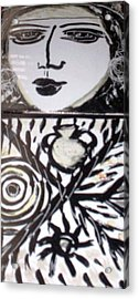 Black And White Acrylic Print by Catherine Walker