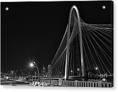 Black And White Hunt-bridge-dallas Acrylic Print by Tod and Cynthia Grubbs